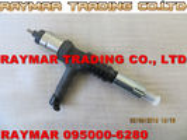 Inyector común del carril de DENSO 095000-6280 para KOMATSU 6219-11-3100, 6219113100